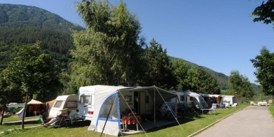 The beauty of camping in Spring and Autumn on the Dolomites of Val di Sole